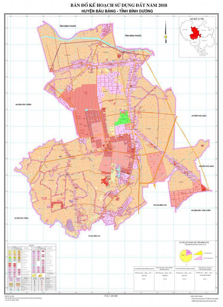 Bản đồ quy hoạch Bàu Bàng mới nhất