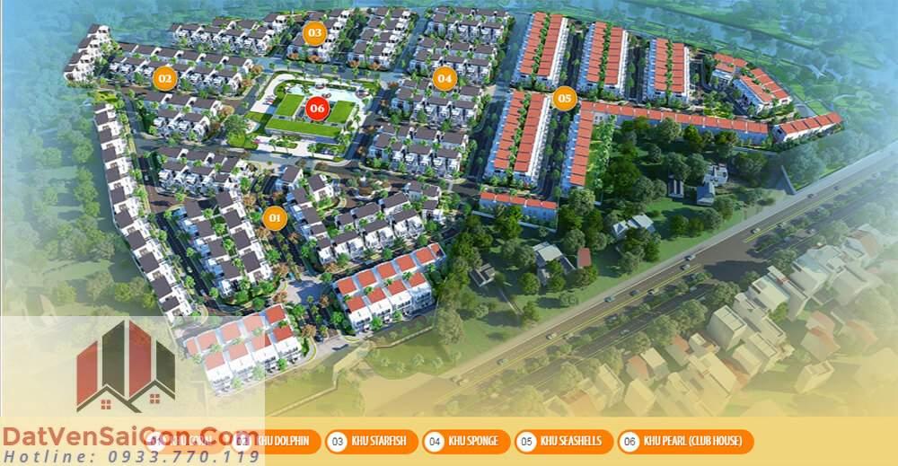 Bella Villa được chia chia làm 6 khu chính là: Coral, Dopin, Starfish, Sponge, Seashells, Pearl