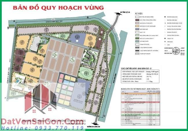 Sơ đồ quy hoạch vùng Khu dân cư Bình Lợi Center - Bình Chánh