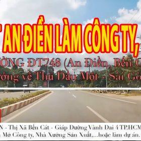 Bán đất An Điền làm công ty, nhà xưởng, làm dự án… gần ngay đường ĐT748 và đường Vành Đai 4 TP.HCM